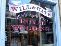Königliche Hochzeitsfensterdekoration Lizenzfreies Stockfoto