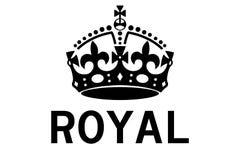 Königliche Illustration des Kronenvektors ENV durch crafteroks lizenzfreie abbildung