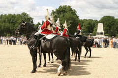 Königliche Kavallerie auf Parade Stockbilder