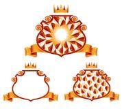 Königliche klassische Embleme. lizenzfreie abbildung