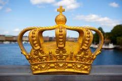 Königliche Krone in Stockholm. Stockfoto