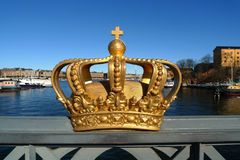 Königliche Krone in Stockholm stockfotografie