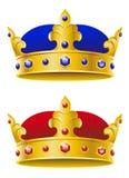 Königliche Kronen stock abbildung