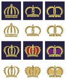 Königliche Kronen eingestellt Lizenzfreie Stockfotografie