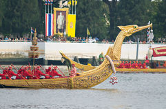Königliche Lastkahn-Prozession, Bangkok 2012 Lizenzfreie Stockfotografie