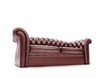 Königliche Möbel getrennte Vorderansicht Lizenzfreies Stockfoto