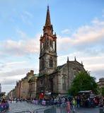 Königliche Meile in der alten Stadt von Edinburgh, Schottland Stockbild