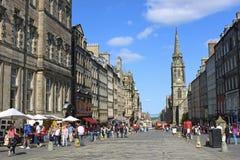 Königliche Meile in Edinburgh, Schottland Lizenzfreies Stockbild