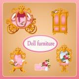 Königliche Puppenmöbel für die Raum Prinzessin Stockfoto