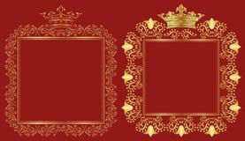 Königliche Rahmen Stockfotos