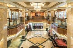 Königliche Säulengangshops und Kasino Mitgliedstaat Queen Elizabeth lizenzfreies stockbild