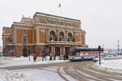 Königliche schwedische Oper im Winter Stockholm Lizenzfreies Stockbild
