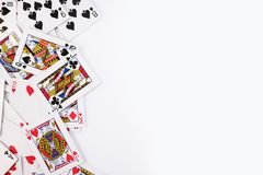 Königliche Spaten des Spielkartekasinoblinkens lizenzfreie stockbilder