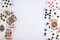 Königliche Spaten des Spielkartekasinoblinkens Lizenzfreie Stockfotos