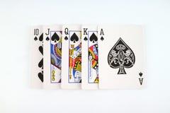 Königliche Spaten des Spielkartekasinoblinkens Stockbild