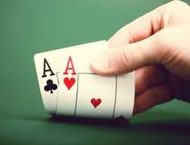 Königliche Spaten des Spielkartekasinoblinkens Lizenzfreies Stockfoto