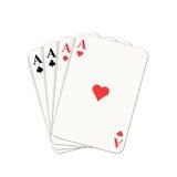 Königliche Spaten des Spielkartekasinoblinkens Stockbilder
