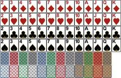 Königliche Spaten des Spielkartekasinoblinkens lizenzfreie abbildung