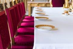 Königlicher Abendtisch Stockbilder