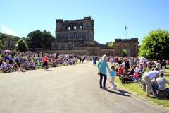 Königlicher Besuch, Chatsworth, Derbyshire, Großbritannien Lizenzfreie Stockfotos