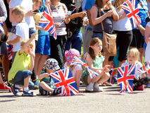 Königlicher Besuch, Derbyshire, Großbritannien Stockbild