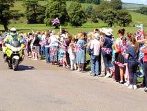 Königlicher Besuch, Derbyshire, Großbritannien Lizenzfreies Stockbild
