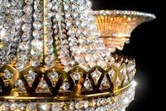 Königlicher Diamantkronen-Leuchterabschluß oben stockbild