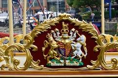 Königlicher goldener Kamm Stockbild