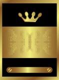 Königlicher goldener Strudel vektor abbildung