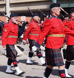 Königlicher Kanadier berittene Polizei Pipeband Lizenzfreie Stockfotos