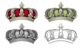 Königlicher Kronenvektor lizenzfreies stockfoto