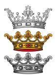 Königlicher Kronenvektor lizenzfreie abbildung
