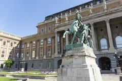 Königlicher Palast in Budapest stockfotos