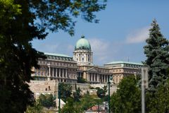 Königlicher Palast in Budapest Stockfotografie