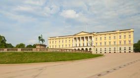 Königlicher Palast in der Stadt von Oslo stockfoto