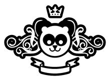 Königlicher Panda Lizenzfreies Stockbild