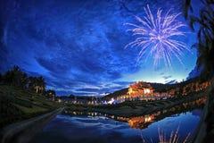 Königlicher Park Rajapruek in Chiang Mai Stockbild
