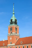 Königlicher Schloss-Kontrollturm in Warschau Stockbilder