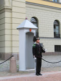 Königlicher Schutz, der Royal Palace in Oslo, Norwegen schützt Lizenzfreie Stockfotos