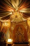 Königlicher thailändischer Innenraum stockfotografie