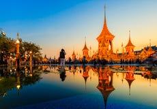 Königlicher Verbrennung Boden für den Durchlauf König Of Thailand gesetzt bei Sanam Luang, Bangkok, THAILAND Lizenzfreie Stockfotografie
