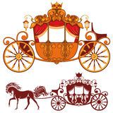 Königlicher Wagen lizenzfreie abbildung