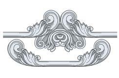 Königlicher Weinlese-Rahmen und Verzierungen Stockfotografie