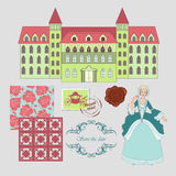 Königlicher Wohnsitz Stockbild