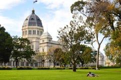 Königliches Ausstellungs-Gebäude in Melbourne stockfotografie