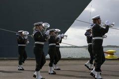 Königliches Band der dänischen Marine Lizenzfreies Stockfoto