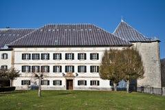 Königliches College-Roncevaux auf spanisch Navarra stockfotografie