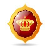 Königliches Emblem des Vektors Stockfoto