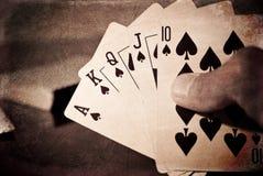 Königliches Erröten-gewinnende Hand Lizenzfreies Stockbild