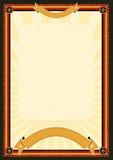Königliches Menü-Plakat Stockbild